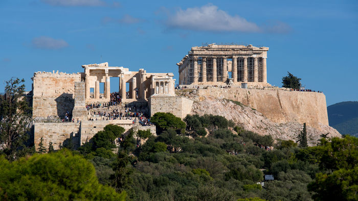Acropolis, host of the Great Temple of Parthenon
