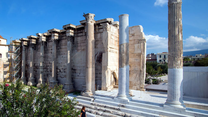 Hadrian's Library built in 132 a.d