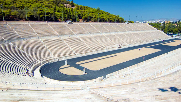 Panathenaic stadium, first modern olympic games