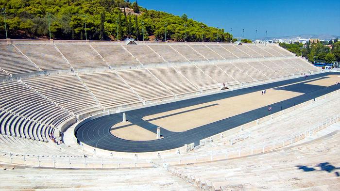 Panathenaic stadium, first modern olympic games