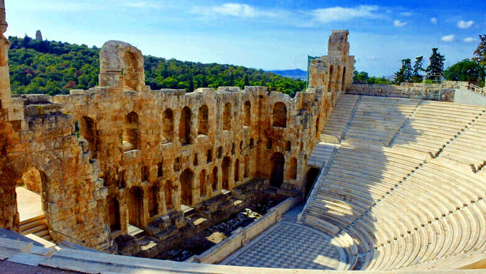 Odeon Of Herodes Atticus. A theater used to this day
